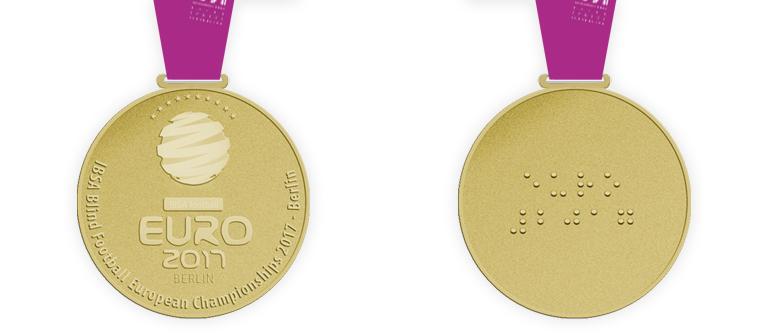 Sportmedaille für Blindensport
