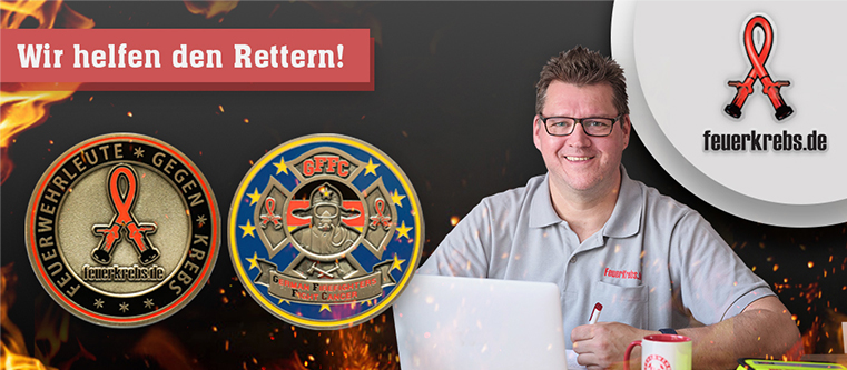 Challenge Coin FeuerKrebs