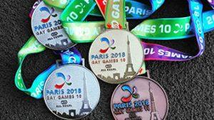 Gold, Silber und Bronze Medaillen