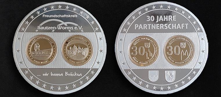 Städtepartnerschaft Bautzen-Worms Jubiläumsmünze