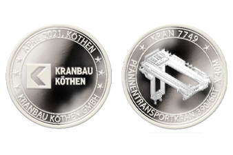 Kranbau Köthen Münze