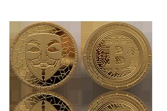 Cryptocoin Münze