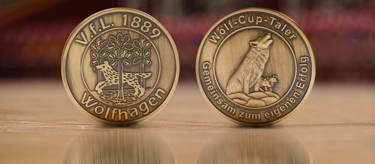 Siegermünzen Wolf-Cup